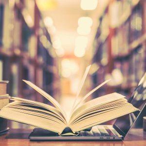 Education e-learning class and e-book digital.